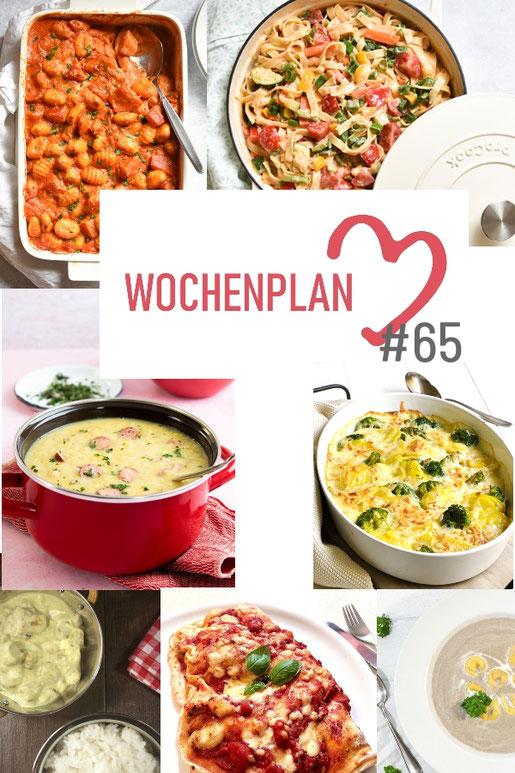 Was soll es die Woche bloß zu essen geben? Ich habe dir hier eine ganze Woche an leckeren Rezepten zusammengestellt - du kannst sie alle vegan oder vegetarisch kochen - der mix dich glücklich Wochenplan für den Thermomix - Nummer 65