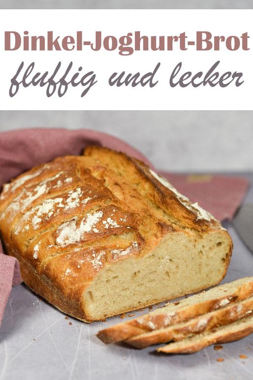 Lecker und fluffig: Dinkel Joghurt Brot, einfach zu machen, für Anfänger geeignet