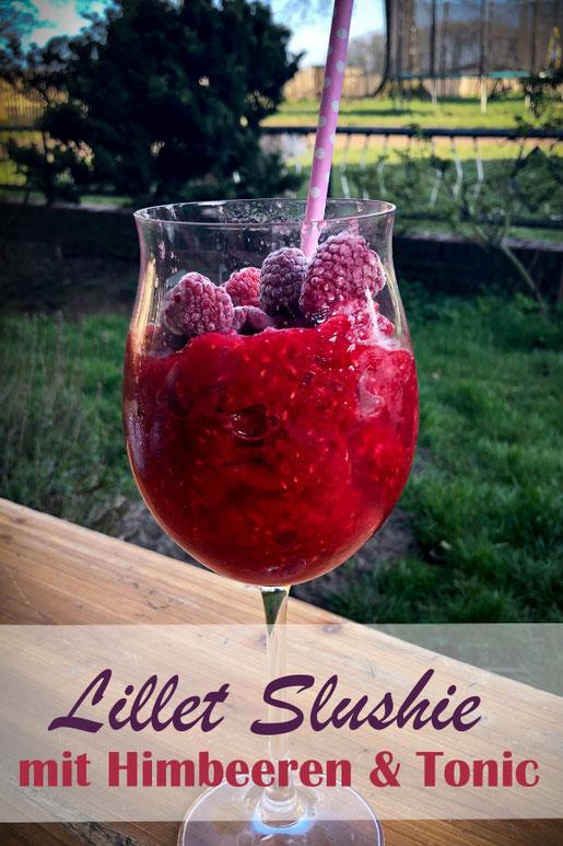 Lillet Slushie, das perfekte Getränk für den Sommer - TK Himbeeren mit Eiswürfeln und Lillet sowie Tonic Water in den Thermomix geben und mixen - super Erfrischung und das perfekte Getränk für die Terrasse