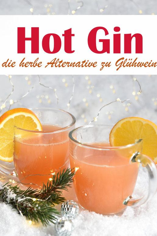 Mal eine andere Art von Winterpunsch - diesmal als herbe Version mit Gin, Grapefruitsaft, Ingwerlimonade, Orangensaft und Apfelsaft, super lecker - wunderbare Alternative zu süßem Glühwein oder Punsch, Thermomix