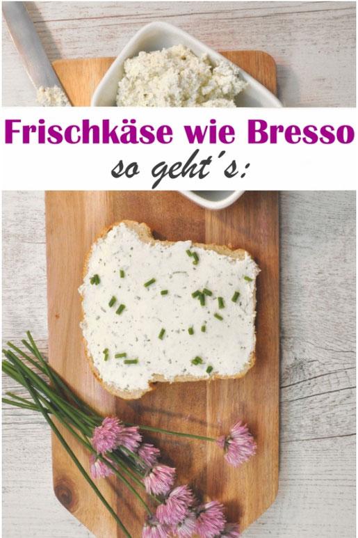 Frischkäse wie Bresso selber machen, Aufstrich, Frühstück, Brunch, Kräuterfrischkäse