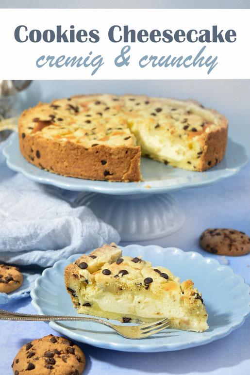 Cookies Cheesecake Käsekuchen cremig und crunchy vegan möglich