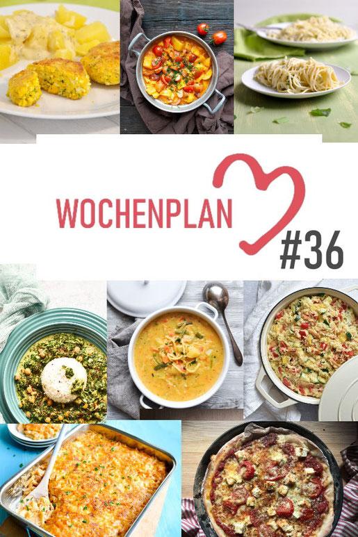 Was soll es die Woche bloß zu essen geben? Leckeres Gemüse, Pasta, Pizza oder lieber ein Curry oder Reisgericht? Hier kommt Wochenplan 36, Thermomix