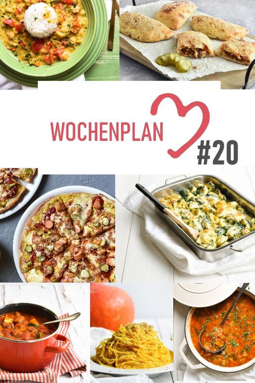 Was soll es die Woche bloß zu essen geben? Ich habe dir hier eine ganze Woche an leckeren Rezepten zusammengestellt - du kannst sie alle vegan oder vegetarisch kochen - der mix dich glücklich Wochenplan für den Thermomix - Nummer 20