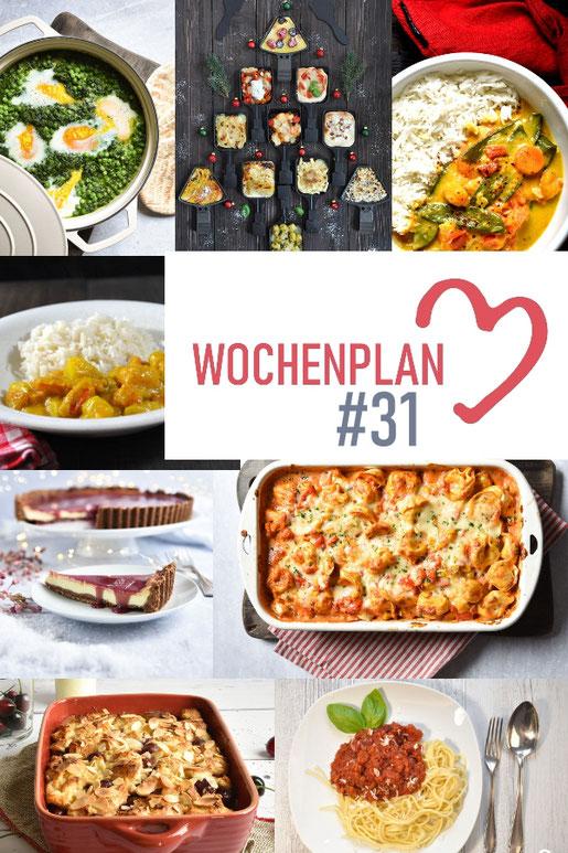 Was soll es die Woche bloß zu essen geben? Ich habe dir hier eine ganze Woche an leckeren Rezepten zusammengestellt - du kannst sie alle vegan oder vegetarisch kochen - der mix dich glücklich Wochenplan für den Thermomix - Nummer 31