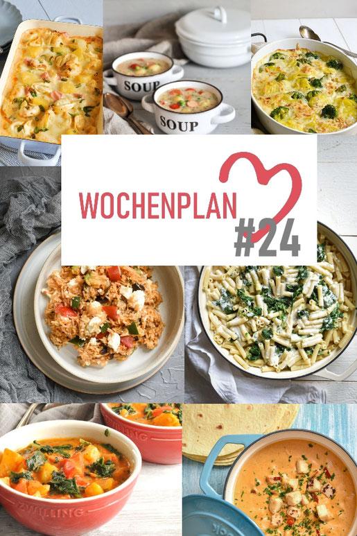 Was soll es die Woche bloß zu essen geben? Ich habe dir hier eine ganze Woche an leckeren Rezepten zusammengestellt - du kannst sie alle vegan oder vegetarisch kochen - der mix dich glücklich Wochenplan für den Thermomix - Nummer 24