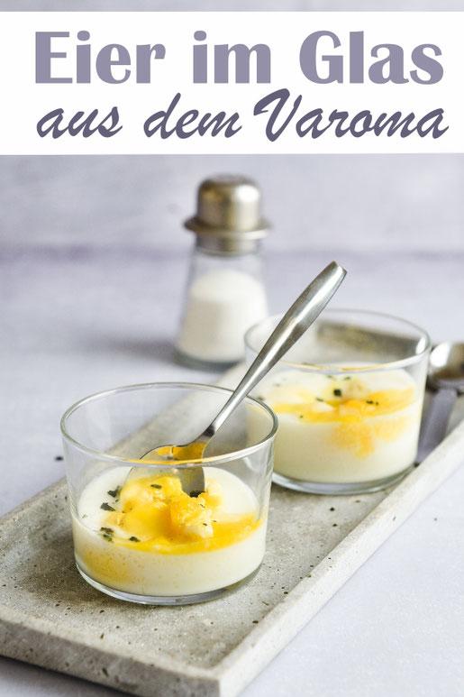 Life Hack: Eier im Glas im Varoma (Thermomix) dämpfen, so spart man sich das lästige Pellen und kann z.B. für Kinder, die kein Eigelb mögen, einfach nur das Eiweiß dämpfen, zum Brunch, Ostern, Frühstück etc.