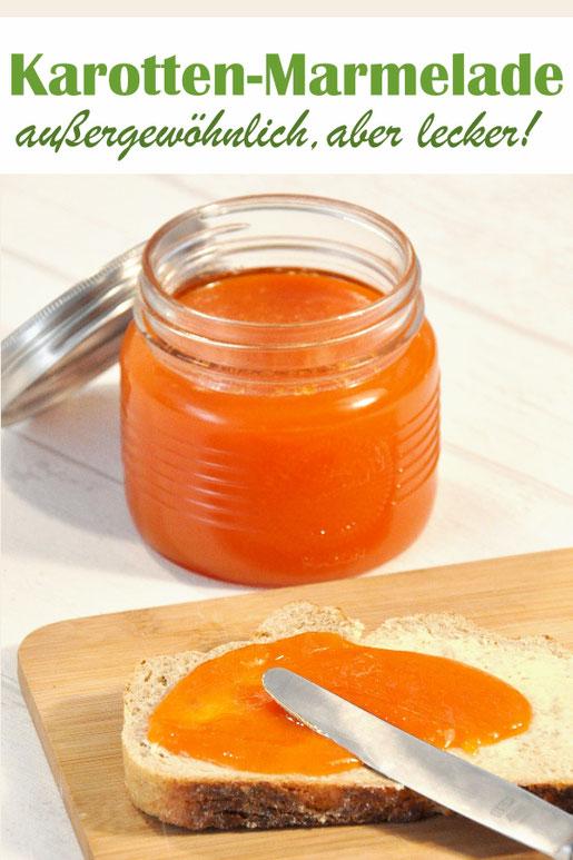 Karottenmarmelade - klingt erstmal außergewöhnlich, schmeckt aber fantastisch, süß mit leichter Zitronen-Note, mal was anderes zum Frühstück, Geschenk aus der Küche, Thermomix