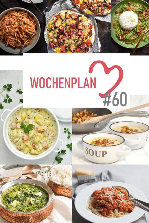 Was soll es die Woche bloß zu essen geben? Ich habe dir hier eine ganze Woche an leckeren Rezepten zusammengestellt - du kannst sie alle vegan oder vegetarisch kochen - der mix dich glücklich Wochenplan für den Thermomix - Nummer 60
