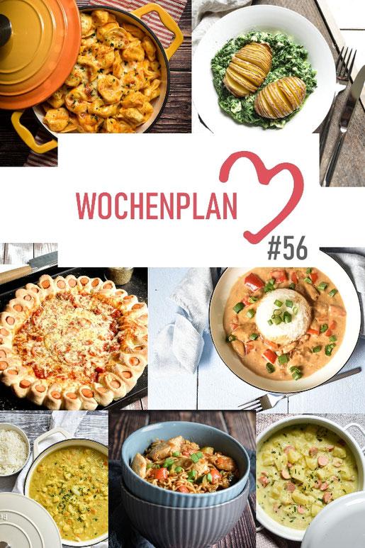 Was soll es die Woche bloß zu essen geben? Ich habe dir hier eine ganze Woche an leckeren Rezepten zusammengestellt - du kannst sie alle vegan oder vegetarisch kochen - der mix dich glücklich Wochenplan für den Thermomix - Nummer 56