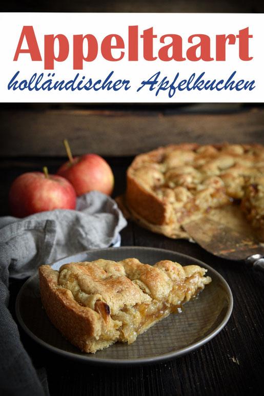 Appeltaart, holländischer Apfelkuchen, vegan möglich, leichte zitronige Note, Thermomix