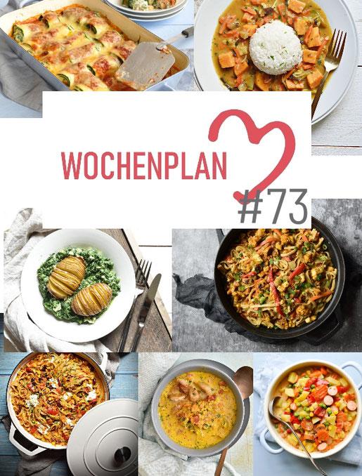 Was soll es die Woche bloß zu essen geben? Ich habe dir hier eine ganze Woche an leckeren Rezepten zusammengestellt - du kannst sie alle vegan oder vegetarisch kochen - der mix dich glücklich Wochenplan für den Thermomix - Nummer 73