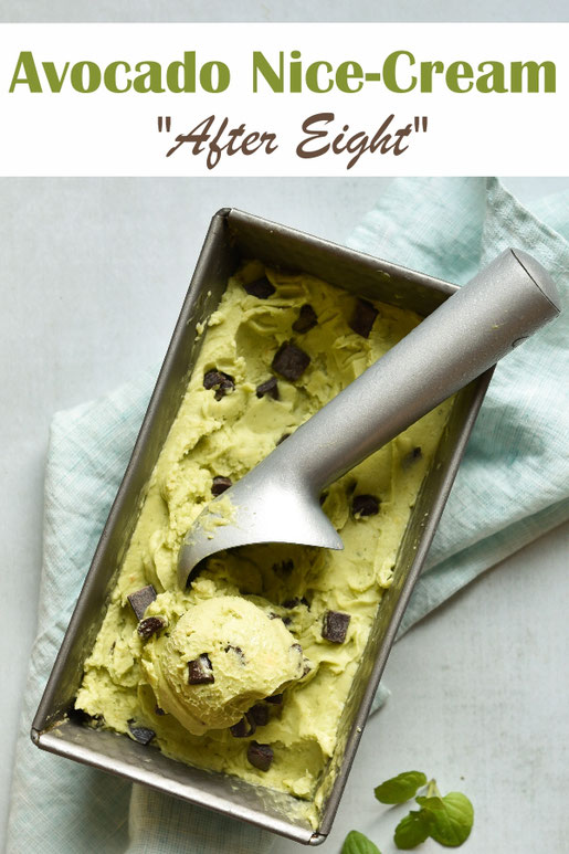 After Eight Eis aus Avocado, Nice Cream, Thermomix, vegan