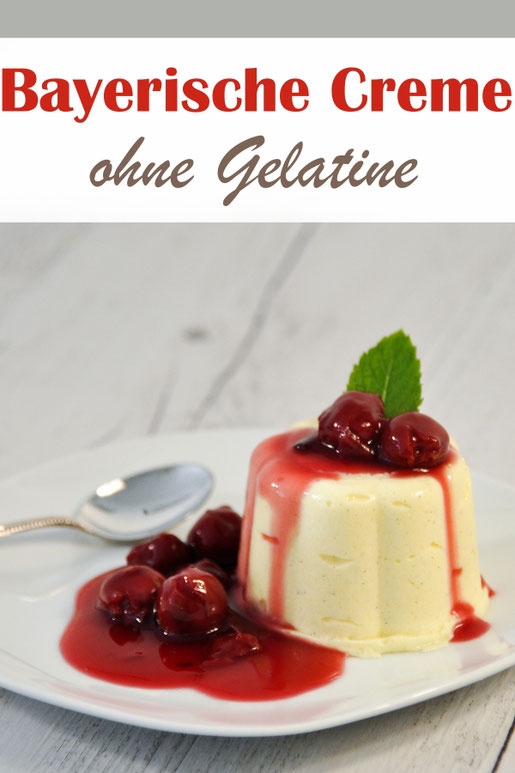 Den Dessert Klassiker bayerische Creme kann man auch ohne Gelatine und, wenn man möchte, auch vegan machen. Hier findet ihr 2 Versionen, einmal ohne Gelatine und einmal ohne Gelatine und ohne Eier.