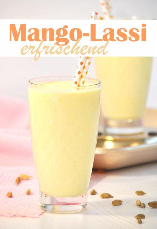 Mango Lassi erfrischend typisch indisches Joghurtgetränk, mit TK Mango wird es richtig schön kalt, vegetarisch, vegan, aus dem Thermomix
