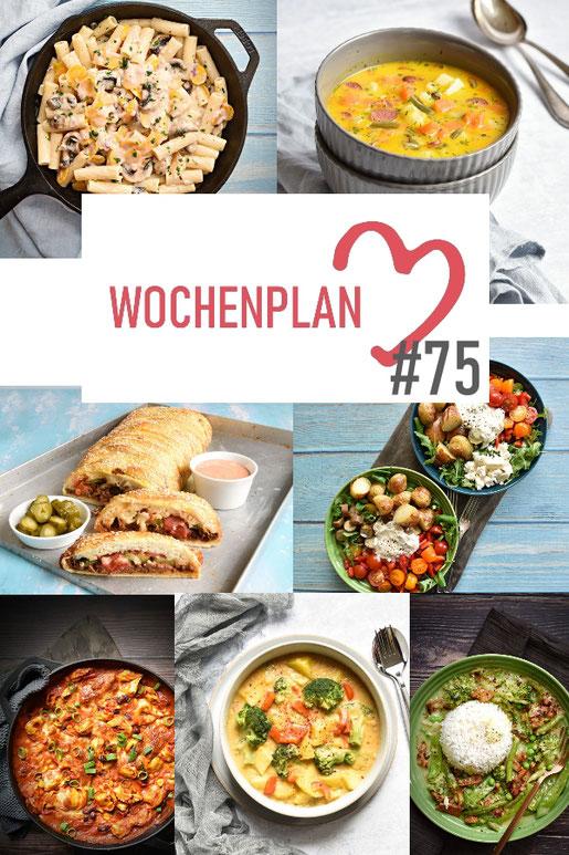 Was soll es die Woche bloß zu essen geben? Leckeres Gemüse, Pasta oder lieber ein Curry oder Reisgericht? Hier kommt Wochenplan 75, Thermomix