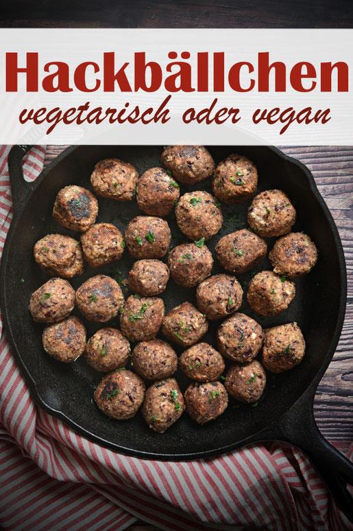 Hackbällchen vegetarisch oder vegan, selbst gemacht, aus Kidneybohnen und Haferflocken, Thermomix, fallen nicht auseinander, Veggie Fleischersatz selbst gemacht