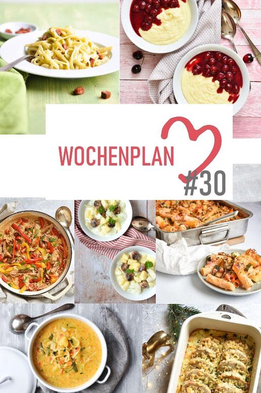 Was soll es die Woche bloß zu essen geben? Ich habe dir hier eine ganze Woche an leckeren Rezepten zusammengestellt - du kannst sie alle vegan oder vegetarisch kochen - der mix dich glücklich Wochenplan für den Thermomix - Nummer 30