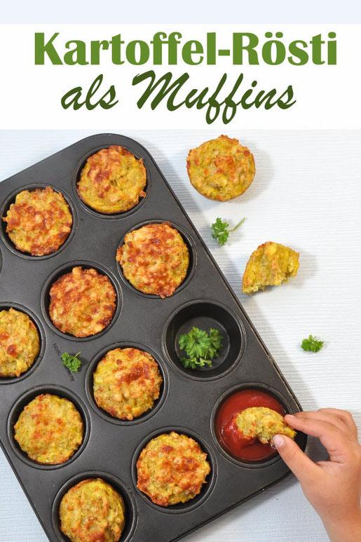 Kartoffel Rösti als Muffins, leckeres Fingerfood, vegetarisch, Thermomix