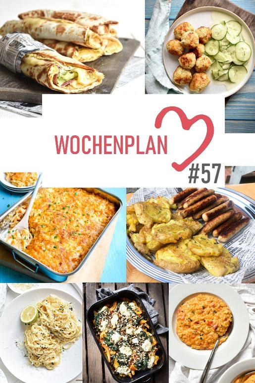 Was soll es die Woche bloß zu essen geben? Ich habe dir hier eine ganze Woche an leckeren Rezepten zusammengestellt - du kannst sie alle vegan oder vegetarisch kochen - der mix dich glücklich Wochenplan für den Thermomix - Nummer 57
