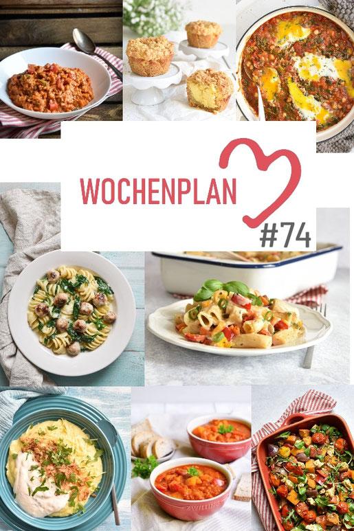 Was soll es die Woche bloß zu essen geben? Leckeres Gemüse, Pasta oder lieber ein Curry oder Reisgericht? Hier kommt Wochenplan 74, Thermomix