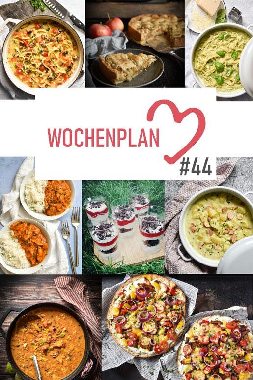 Was soll es die Woche bloß zu essen geben? Leckeres Gemüse, Pasta oder lieber ein Curry oder Reisgericht? Hier kommt Wochenplan 44, Thermomix