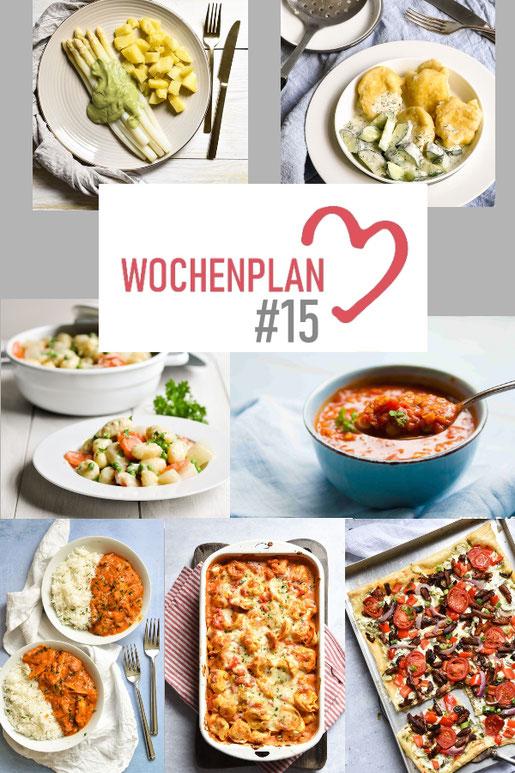 Was soll es die Woche bloß zu essen geben? Ich habe dir hier eine ganze Woche an leckeren Rezepten zusammengestellt - du kannst sie alle vegan oder vegetarisch kochen - der mix dich glücklich Wochenplan für den Thermomix - Nummer 15
