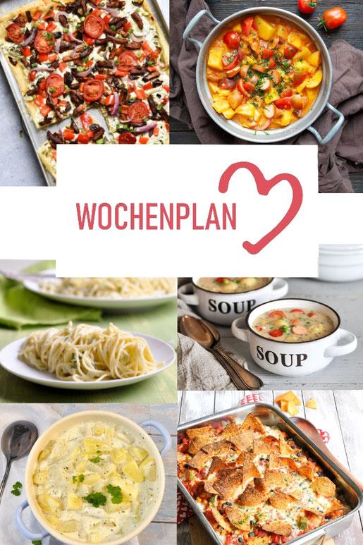 Was soll es die Woche bloß zu essen geben? Ich habe dir hier eine ganze Woche an leckeren Rezepten zusammengestellt - du kannst sie alle vegan oder vegetarisch kochen - der mix dich glücklich Wochenplan für den Thermomix - Nummer 2