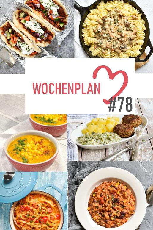 Was soll es die Woche bloß zu essen geben? Ich habe dir hier eine ganze Woche an leckeren Rezepten zusammengestellt - du kannst sie alle vegan oder vegetarisch kochen - der mix dich glücklich Wochenplan für den Thermomix - Nummer 78