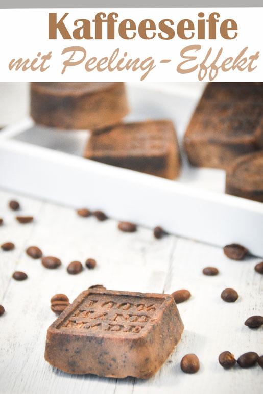 Kaffee Seife mit Peelingeffekt für die Dusche oder für die Küche, pflegt und peelt zugleich, DIY, Weihnachtsgeschenk, Ostergeschenk, Thermomix