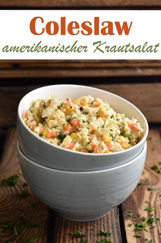 amerikanischer Krautsalat Coleslaw vegetarisch, vegan möglich, großartige Grillbeilage oder für das Buffet, ratz fatz gemacht mit dem Thermomix