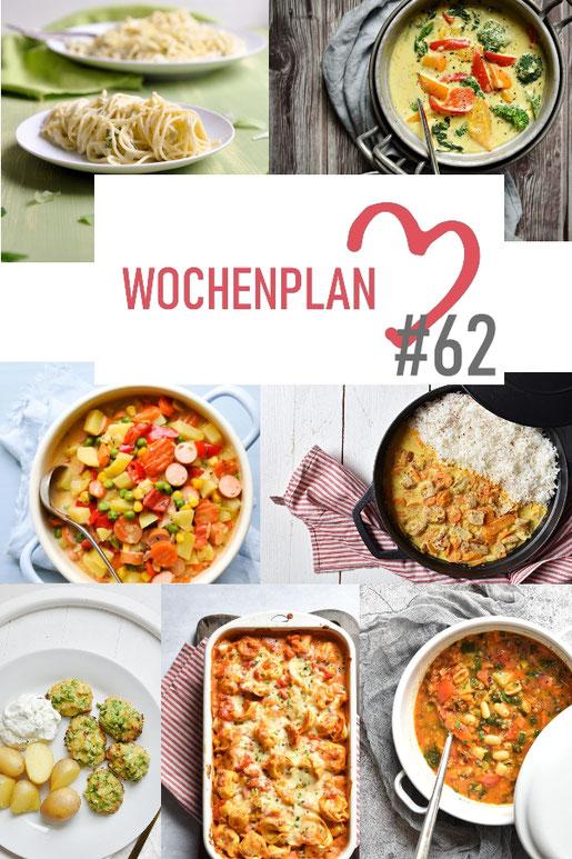 Was soll es die Woche bloß zu essen geben? Ich habe dir hier eine ganze Woche an leckeren Rezepten zusammengestellt - du kannst sie alle vegan oder vegetarisch kochen - der mix dich glücklich Wochenplan für den Thermomix - Nummer 62