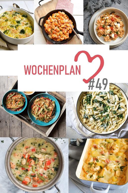Was soll es die Woche bloß zu essen geben? Ich habe dir hier eine ganze Woche an leckeren Rezepten zusammengestellt - du kannst sie alle vegan oder vegetarisch kochen - der mix dich glücklich Wochenplan für den Thermomix - Nummer 49