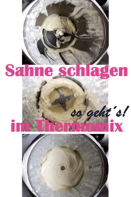 Sahne im Thermomix zu schlagen ist ohne Schmetterling ganz einfach - hier ist eine Anleitung - Mengen von 150 g - 800 g sind möglich