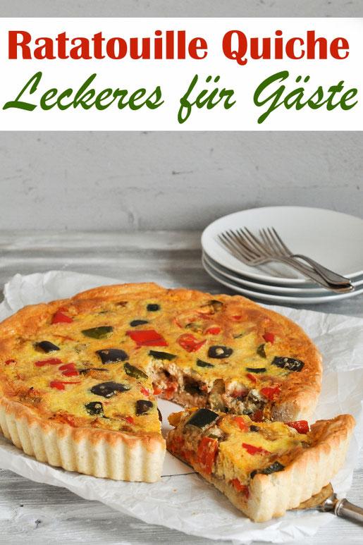 Ratatouille Quiche - perfekt, wenn Gäste kommen, leicht vorzubereiten, vegetarisch, z.B. aus dem Thermomix
