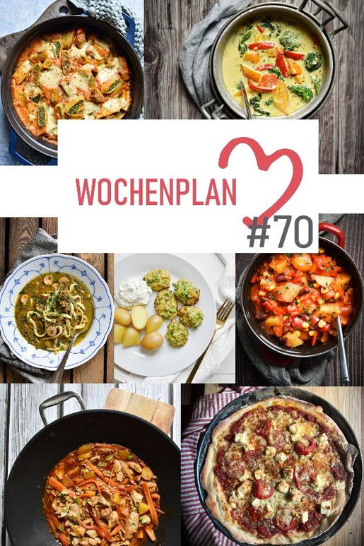 Was soll es die Woche bloß zu essen geben? Ich habe dir hier eine ganze Woche an leckeren Rezepten zusammengestellt - du kannst sie alle vegan oder vegetarisch kochen - der mix dich glücklich Wochenplan für den Thermomix - Nummer 70