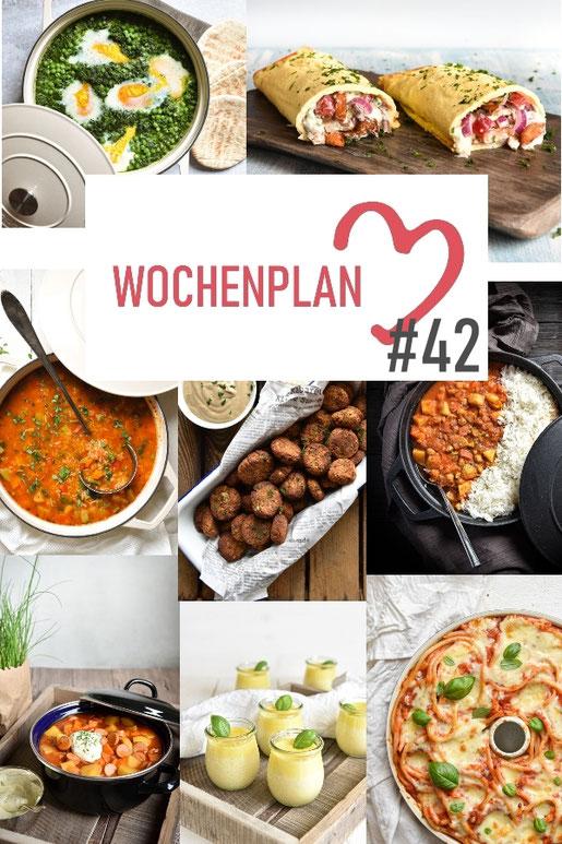 Was soll es die Woche bloß zu essen geben? Leckeres Gemüse, Pasta oder lieber ein Curry oder Reisgericht? Hier kommt Wochenplan 42, Thermomix