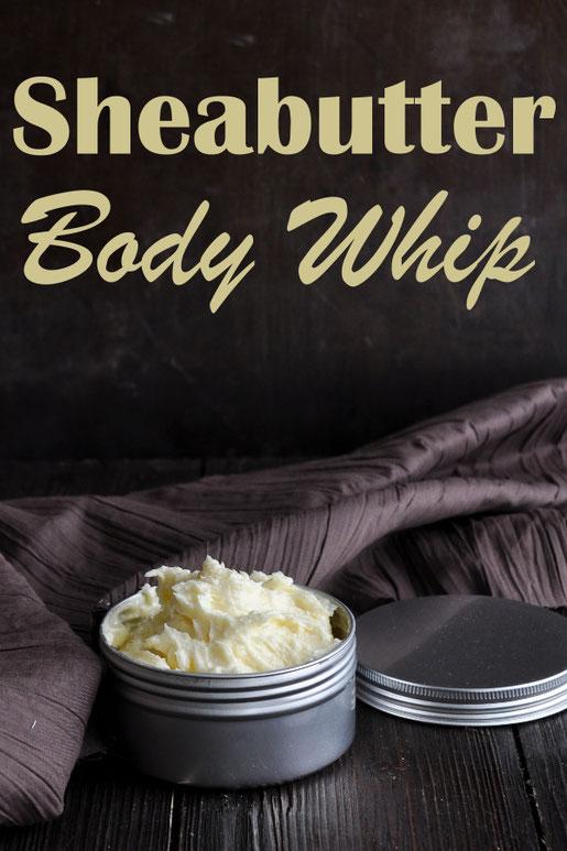 Sheabutter Body Whip ist eine Art Bodylotion aus Sheabutter Kokosöl und Jojobaöl, im Winter bei trockener Haut, dezent verwenden, auch bekannt als Sheasahne oder Körpersahne