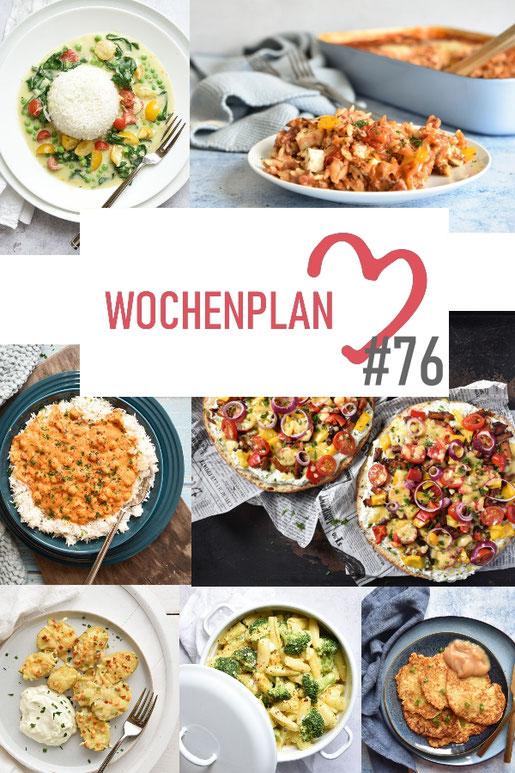 Was soll es die Woche bloß zu essen geben? Leckeres Gemüse, Pasta oder lieber ein Curry oder Reisgericht? Hier kommt Wochenplan 76, Thermomix