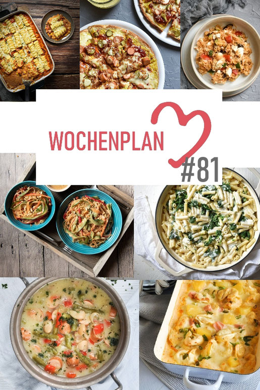 Was soll es die Woche bloß zu essen geben? Ich habe dir hier eine ganze Woche an leckeren Rezepten zusammengestellt - du kannst sie alle vegan oder vegetarisch kochen - der mix dich glücklich Wochenplan für den Thermomix - Nummer 81