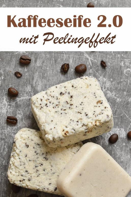 Kaffeeseife mit Peelingeffekt für alle Seifen geeignet, neues Rezept, Thermomix