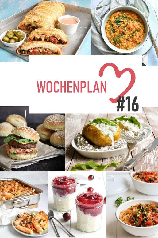 Was soll es die Woche bloß zu essen geben? Ich habe dir hier eine ganze Woche an leckeren Rezepten zusammengestellt - du kannst sie alle vegan oder vegetarisch kochen - der mix dich glücklich Wochenplan für den Thermomix - Nummer 16
