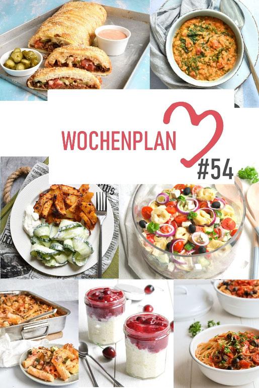 Was soll es die Woche bloß zu essen geben? Ich habe dir hier eine ganze Woche an leckeren Rezepten zusammengestellt - du kannst sie alle vegan oder vegetarisch kochen - der mix dich glücklich Wochenplan für den Thermomix - Nummer 54