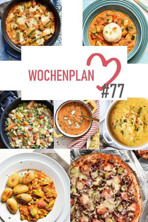 Was soll es die Woche bloß zu essen geben? Leckeres Gemüse, Pasta oder lieber ein Curry oder Reisgericht? Hier kommt Wochenplan 77, Thermomix