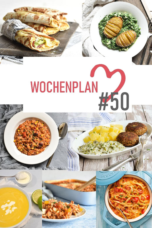 Was soll es die Woche bloß zu essen geben? Ich habe dir hier eine ganze Woche an leckeren Rezepten zusammengestellt - du kannst sie alle vegan oder vegetarisch kochen - der mix dich glücklich Wochenplan für den Thermomix - Nummer 50
