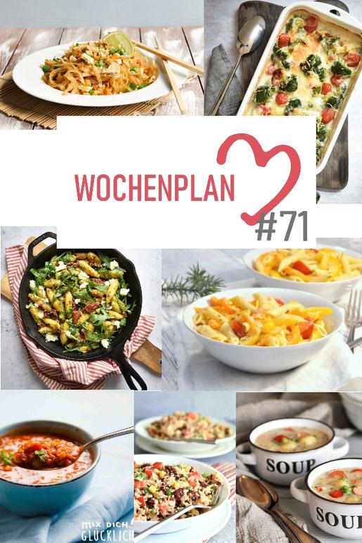 Was soll es die Woche bloß zu essen geben? Ich habe dir hier eine ganze Woche an leckeren Rezepten zusammengestellt - du kannst sie alle vegan oder vegetarisch kochen - der mix dich glücklich Wochenplan für den Thermomix - Nummer 71