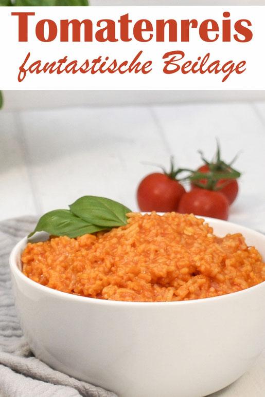 Tomatenreis ist eine fantastische Beilage, ganz einfach gemacht aus dem Thermomix, vegan, schmeckt besonders Kindern, Mittagessen