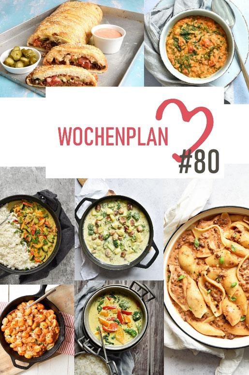 Was soll es die Woche bloß zu essen geben? Ich habe dir hier eine ganze Woche an leckeren Rezepten zusammengestellt - du kannst sie alle vegan oder vegetarisch kochen - der mix dich glücklich Wochenplan für den Thermomix - Nummer 80
