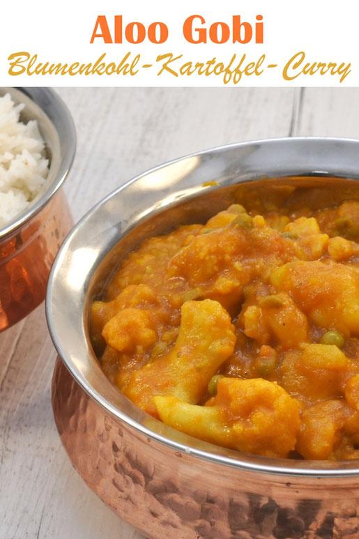 Aloo Gobi - indisches Blumenkohl Kartoffel Curry vegetarisch vegan z.b aus dem Thermomix