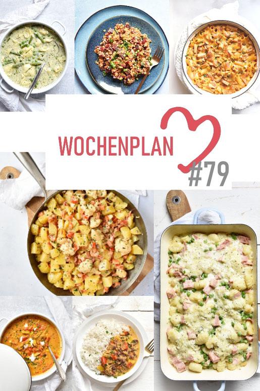 Was soll es die Woche bloß zu essen geben? Ich habe dir hier eine ganze Woche an leckeren Rezepten zusammengestellt - du kannst sie alle vegan oder vegetarisch kochen - der mix dich glücklich Wochenplan für den Thermomix - Nummer 79